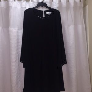 Black Plus Size Dress with Gold studs Sz 2X NWT